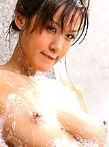 Puffy Nipples, Asian Women irene fah 02 shower big nipples nice tits