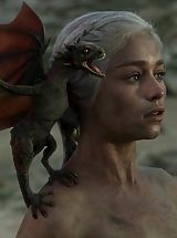 Retro, Game of Thrones Girls queen of the dragons nude