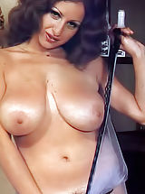Nika Movenka - the Big Busty Diva of Historic Magazines with Black Silk Love Mound Hairs in a Color Photos That Made Her Famous