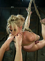 Fetish Nippels, Blonde girl gets whipped and fucked by Lesbian.