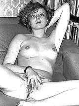 Retro Pics, Russian Black & White Photos of the Vintage 1970-1980 Era Where Hairy Naked Girls Spread Their Fuck Ready Cunts