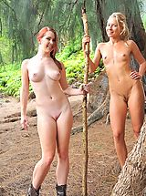 naked moms, Nude hike with Lena and Melody