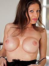 Anilos Nippels, Breathtaking Anilos babe shows off her big boobs in a sheer lace dress