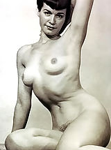 naked boobs, Previously Unreleased & Not Shown Black & White Vintage Erotica and Fetish Photos of Betty (Bettie) Page