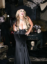 Fantasy Pics: Kelly and Tasha get their little gothic witch and princess pussies pounded hard by the crazy clown.