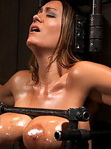 Big.Tits Nippels, Trina Michaels takes the fuck machine hard and fast. She is gagged, blindfolded, whipped, caned and fingered into orgasm after orgasm.