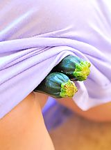 Upskirt Pics: Danielle loves her fresh veggies