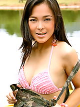 Sexy Bikini, Asian Women carrie lee 01 army upskirt boat rental
