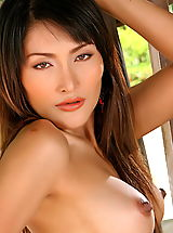 Nipples, Asian Women kaila wang 01 high heels erect nipples